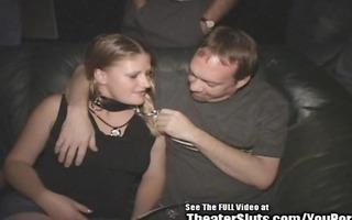 porn theater cum wench freak on a leash!