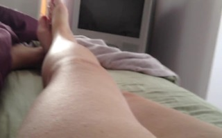wifes feet,unshaved moist crack,soft boobs, takes