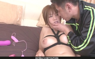 busty mother i meguru kosaka receives her bald