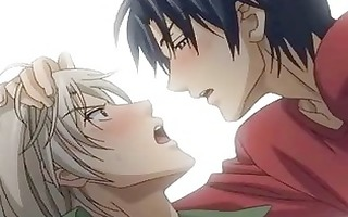 sexually excited manga homo kisses n booty bonks