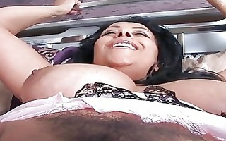 black haired playgirl with biggest love melons