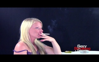 smokin fetish - blond nico smokes a cigarette