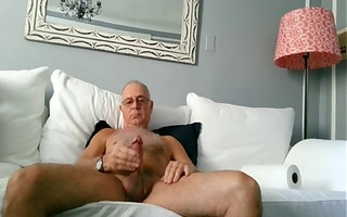 sexy hawt older daddy discharges a nice load