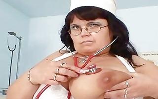 biggest tits mother i nurse shows off her large