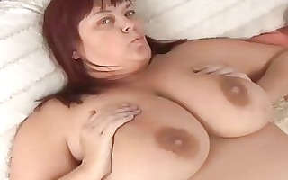 charming breasty older bbw in hot nylons
