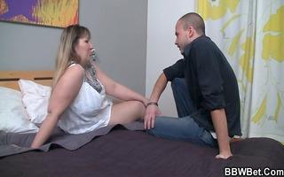 boy invites chubby lady to fuck