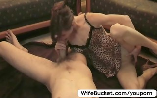 wife takes a nice care of hubby