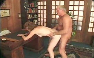 granny drilled by younger guy