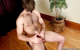 curly pierced lad jerking off part10