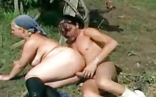 village granny punished by young farmer xlx