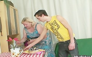 he is is lured into sex by chunky mother in law