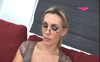 foot fetish secretary tanya exposes undresses and