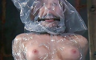 undressed and gagged honey acquires wild cunt
