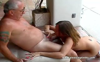 girl acquires face hole drilled by old man