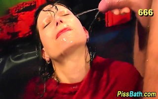 urine loving piddle babe receives overspread