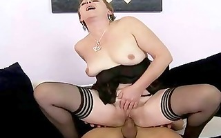 sexy granny acquires screwed hard by youthful stud