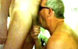 moustache daddy eating schlong