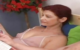 lustful granny engulfing old jock in the bed