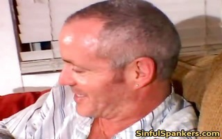 wicked blond hoe receives bent over knees part3