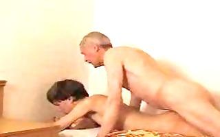 slender twink gets his a-hole slammed by older dad