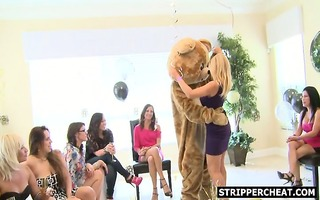 wives and girlfriends engulfing strangers jock
