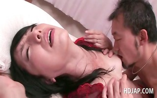 big o junkie brunette hair oriental gets twat