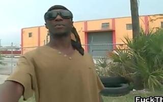 thug bonks white rod outdoor part8