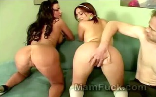 hot trio with large butt mother i and sexy slutty