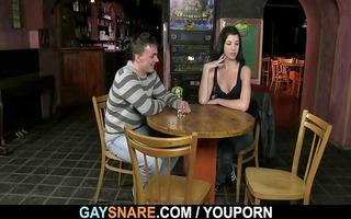 homosexual waiter bangs his poor booty