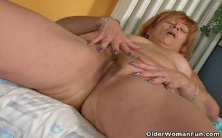 redheaded granny susan bonks her unshaved wet