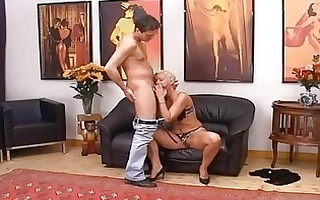 blond aged having muff fisted hard