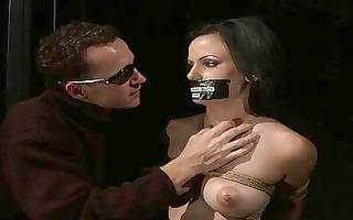busty slavegirl getting bondaged and fucked