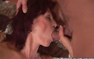 squirting grandma needs to acquire off on his