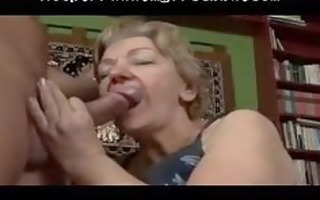 toothless obese gummy granny oral-sex and fuck