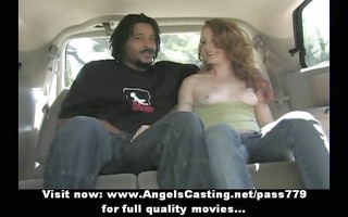 superb hawt redhead playgirl with natural milk