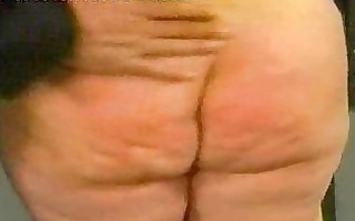 chunky serf is spanked on her gazoo and plays