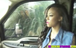 swarthy monroe in a horny car ride after an