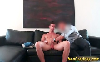hot hunk chris takes bulky inflexible dong