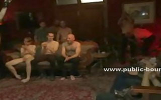 gay hunks sitting on couch are gifted a sex serf