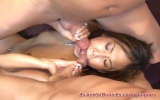 young asians st three-some