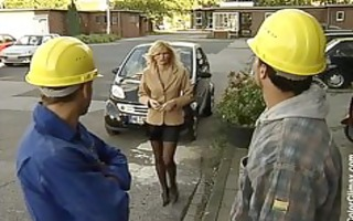 nicolette blue housewife drilled by construction