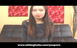 oriental legal age teenager with braces acquires