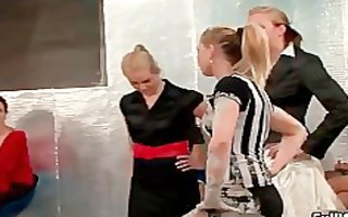 group of sexually excited euro women love doing