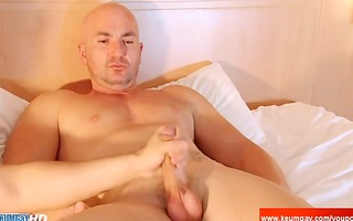 str2 french chap receive shaked his large penis