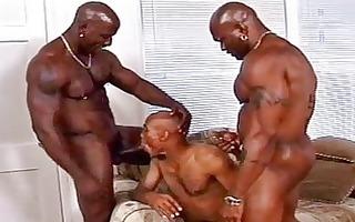 dark homosexual group sex scene