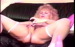 mature golden-haired shablee dildos 10