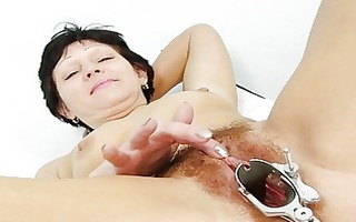 fuckable dark brown granny acquires her unshaved