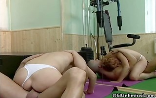 naughty golden-haired woman riding an hard