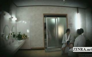 subtitled japanese public string bikini bathhouse