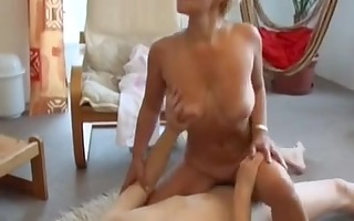 blonde mama and guy